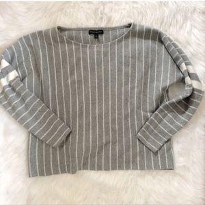 Banana Republic Grey Slouchy Long Sleeve Shirt